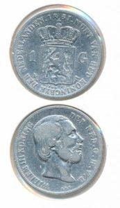 Nederland Zilveren Gulden Willem III 1851