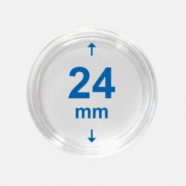 Importa muntcapsules 24 mm Crystal Clear 10 Stuks