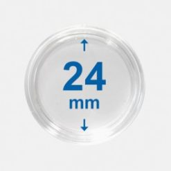 Importa muntcapsules 24 mm Crystal Clear 100 Stuks