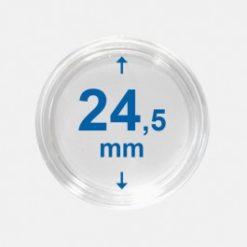 Importa muntcapsules 24,5 mm Crystal Clear 100 Stuks