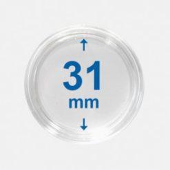 Importa muntcapsules 31 mm Crystal Clear 10 Stuks