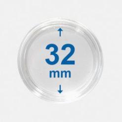 Importa muntcapsules 32 mm Crystal Clear 10 Stuks