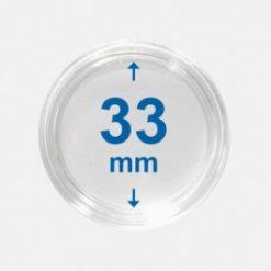 Importa muntcapsules 33 mm Crystal Clear 10 Stuks