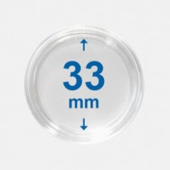 Importa muntcapsules 33 mm Crystal Clear 100 Stuks