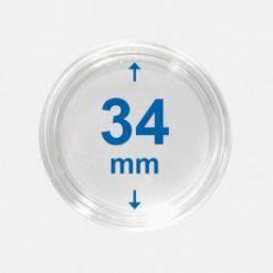 Importa muntcapsules 34 mm Crystal Clear 100 Stuks