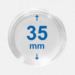 Importa muntcapsules 35 mm Crystal Clear 100 Stuks