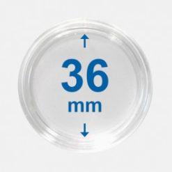 Importa muntcapsules 36 mm Crystal Clear 100 Stuks