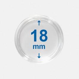 Importa muntcapsules 18 mm Crystal Clear 10 Stuks