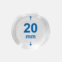 Importa muntcapsules 20 mm Crystal Clear 10 Stuks