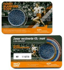 Nederland 2018 Fanny Blankers-Koen Vijfje Coincard UNC