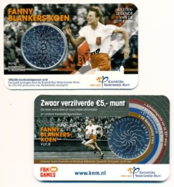 Nederland 2018 Fanny Blankers-Koen Vijfje Coincard BU