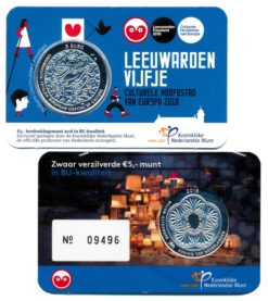 Nederland 2018 Leeuwardenvijfje Coincard BU