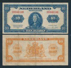 Nederland 1943 11 Gulden Wilhelmina American Bank Note Company Muntbiljet