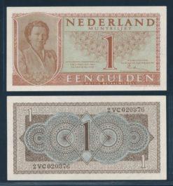 Nederland 1949 1 Gulden Juliana Muntbiljet