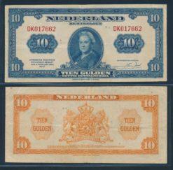 Nederland 1943 12 Gulden Wilhelmina American Bank Note Company Muntbiljet