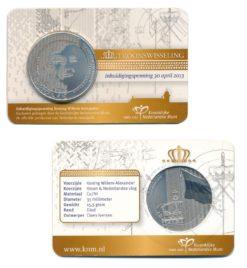 Nederland 2013 Inhuldigingspenning Coincard Koning Willem-Alexander