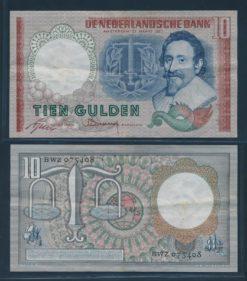 Nederland 1953 10 Gulden Hugo de Groot Bankbiljet