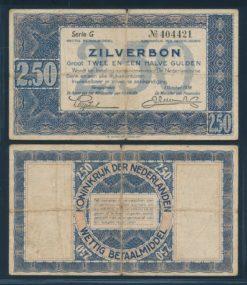 Nederland 1938 2 Gulden Zilverbon