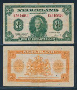 Nederland 1943 2 Gulden Wilhelmina Muntbiljet American Bank Note Company