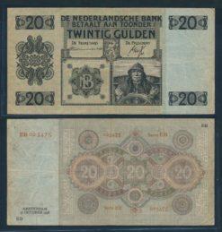 Nederland 1926 20 Gulden Stuurman Bankbiljet
