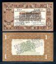 Nederland 1938 1 Gulden Zilverbon Opdruk buiten omloop