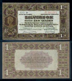 Nederland 1920 1 Gulden Zilverbon