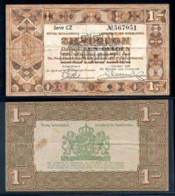 Nederland 1938 1 Gulden Zilverbon