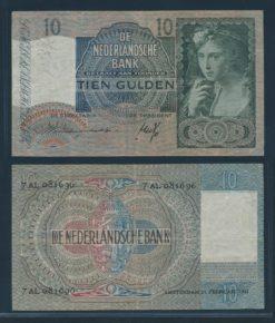 Nederland 1940 10 Gulden Meisje met Druiven Bankbiljet