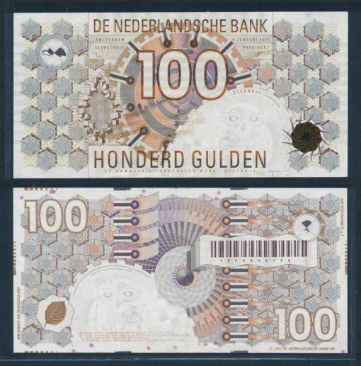 Nederland 1992 100 Gulden Steenuil Bankbiljet  1