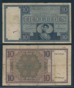 Nederland 1924 10 Gulden Zeeuws Meisje Bankbiljet
