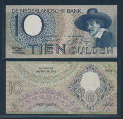 Nederland 1943 10 Gulden Staalmeester Bankbiljet