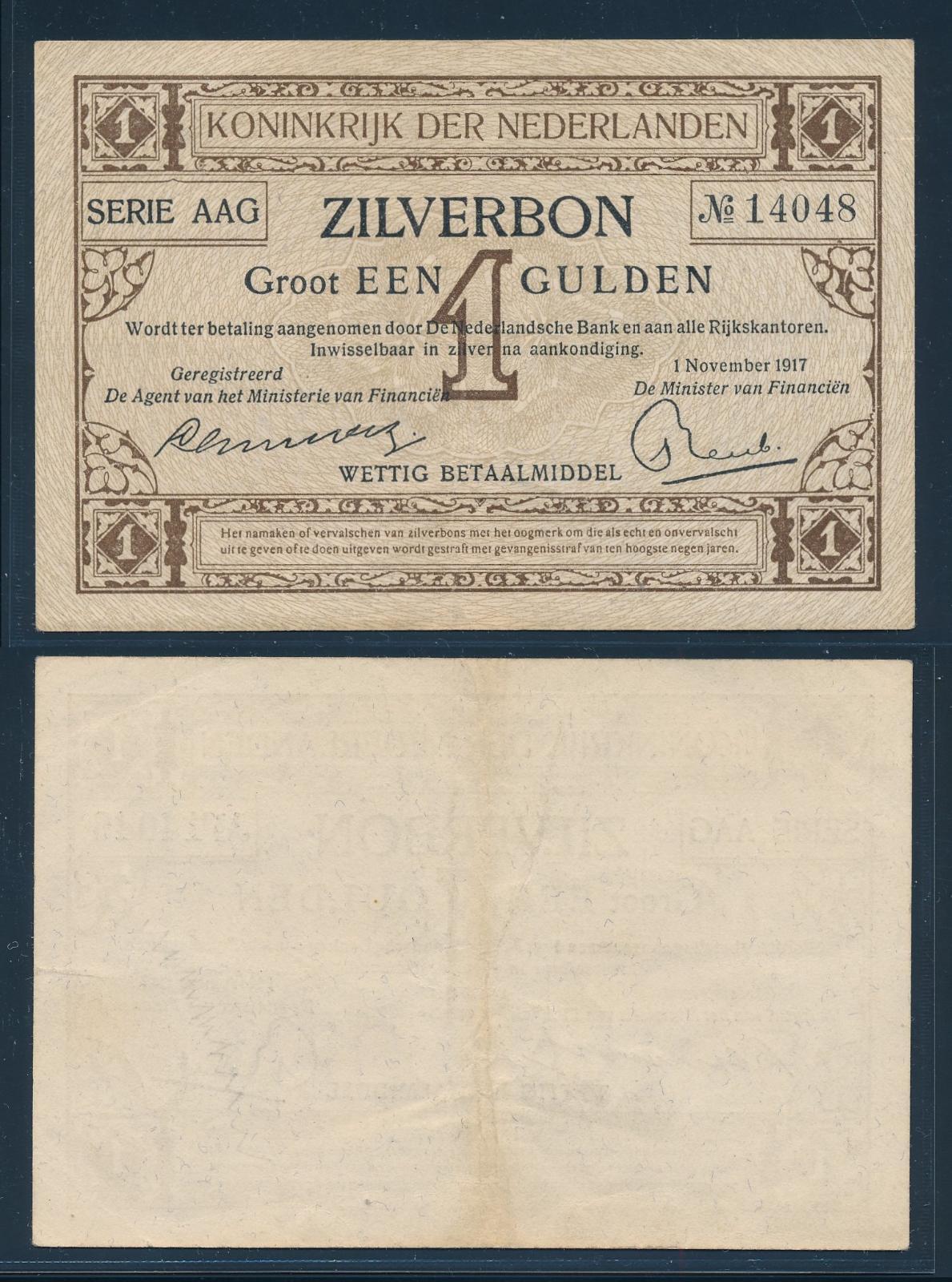 Nederland 1917 1 Gulden Zilverbon