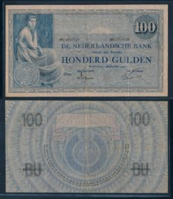 Nederland 1921 100 Gulden Grietje Seel Bankbiljet