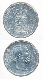 Nederland Zilveren Rijksdaalder 1874 Willem III