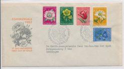 Nederland 1952 FDC Zomer met getypt adres E9