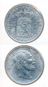 Nederland Zilveren Rijksdaalder 1873 Willem III