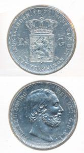 Nederland Zilveren Rijksdaalder 1871 Willem III