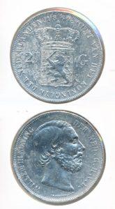 Nederland Zilveren Rijksdaalder 1869 Willem III