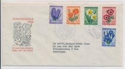 Nederland 1953 FDC Zomer met getypt adres E13