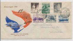 Nederland 1950 FDC Zomer met getypt adres E1