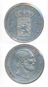 Nederland Zilveren Rijksdaalder 1862 B Willem III