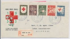 Nederland 1953 FDC Rode Kruis met getypt adres E14