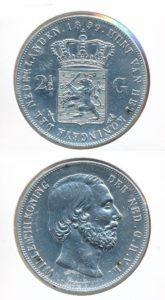 Nederland Zilveren Rijksdaalder 1859 Willem III
