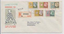 Nederland 1953 FDC Kind met getypt adres E15