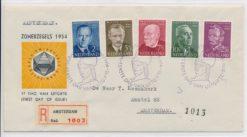Nederland 1954 FDC Zomer met getypt adres E16