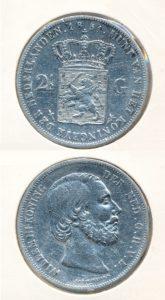 Nederland Zilveren Rijksdaalder 1851 A Willem III