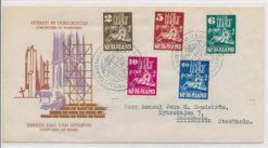 Nederland 1950 FDC Kerken in oorlogstijd met getypt adres E2
