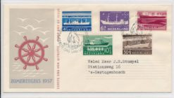 Nederland 1957 FDC Zomer met getypt adres E29