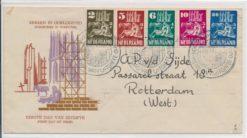 Nederland 1950 FDC Kerken in oorlogstijd met geschreven adres E2