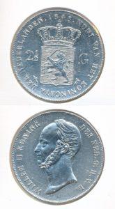 Nederland Zilveren Rijksdaalder 1848 Willem II